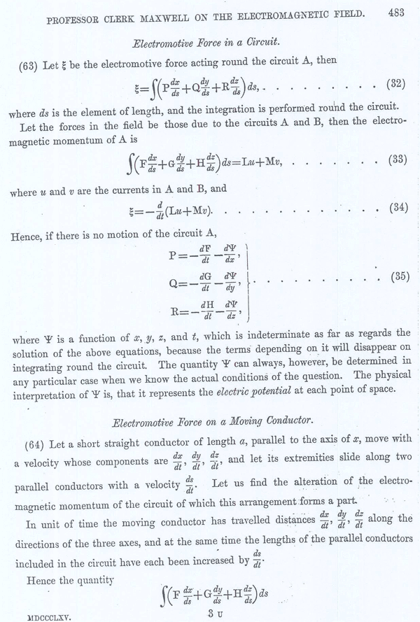 Clerk Maxwell on the Electromagnetic Field Page 25